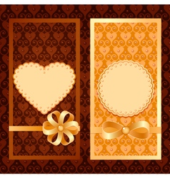 Set of invitation cards vector