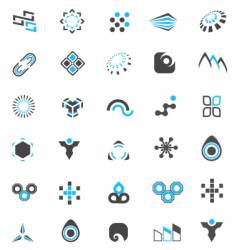 logo elements collection vector image