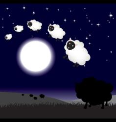 moon jump sheep vector image