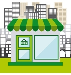 Commercial store vector