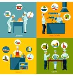 Cooking people set vector