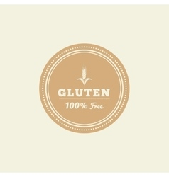 Gluten free label vector