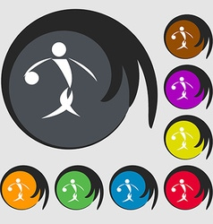 Summer sports basketball icon symbols on eight vector