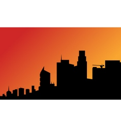Silhouette of a tall buildings vector
