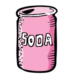 soda drink vector image