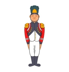French Army soldier in uniform icon cartoon style vector image