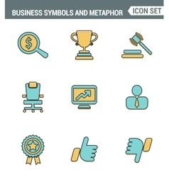 Icons line set premium quality of various business vector