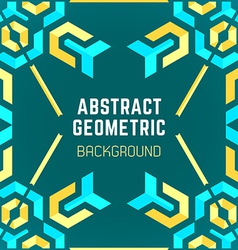 blue yellow green abstract geometric pattern vector image