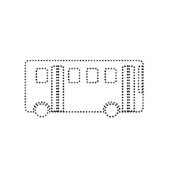 Bus simple sign black dotted icon on vector