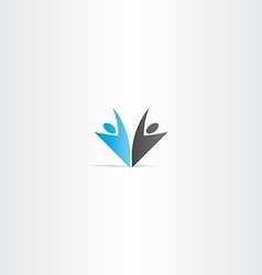 business people blue black logo vector image