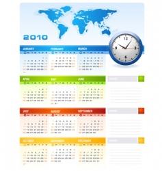 calendar 2010 vector image