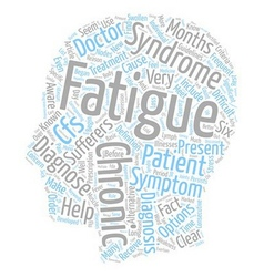Chronic fatigue the facts you should know text vector