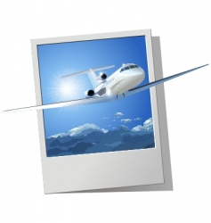 commercial airplane vector image vector image