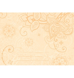 decorative indian style vector image vector image