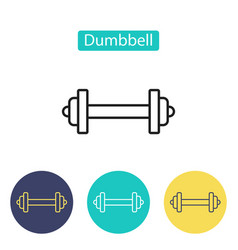Dumbbell icon isolated on white background vector