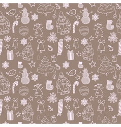 Funny winter christmas seamless pattern vector image vector image
