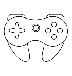 Gamepad control console thin line vector