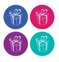 Gift boxes on light background vector image vector image