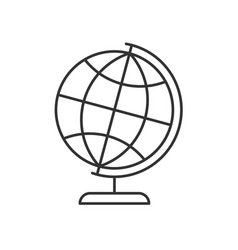 globe on a stand linear icon vector image
