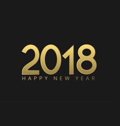 golden numbers 2018 vector image vector image
