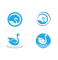 goose logo template isolated sign symbol vector image