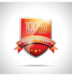 Guarantee labels vector image vector image