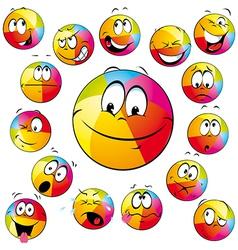 happy beach ball vector image