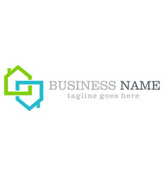 home business logo design vector image