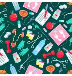 Medicine and health items seamless pattern vector