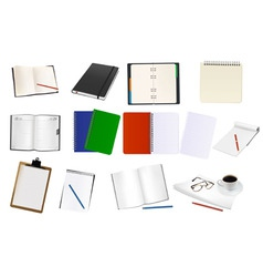 mega set notebooks and papers vector image vector image