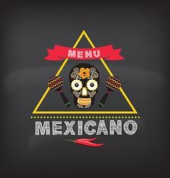 Menu mexican design vector