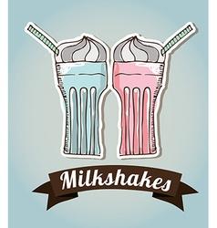 milkshake vector image