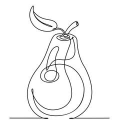 pear continuous line vector image vector image