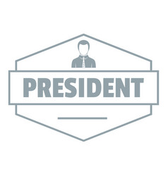 president logo simple gray style vector image