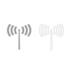 Radio signal set icon vector