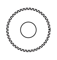 sketch silhouette cog wheel pinion icon vector image vector image