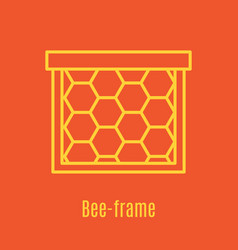 thin line icon bee frame vector image
