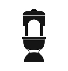 Toilet bowl icon in simple style vector