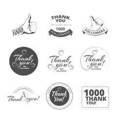 vintage Thank you badges vector image