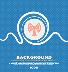 Wi-fi internet sign icon blue and white abstract vector