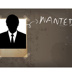 Grunge wanted poster design vector