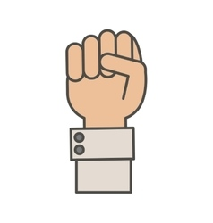 Isolated hand gesture design vector