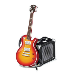 classic electric guitar vector image