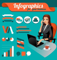 Business nfographics vector image