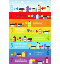 Banners with small town vector