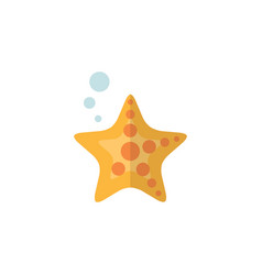 Isolated starfish flat icon sea star vector