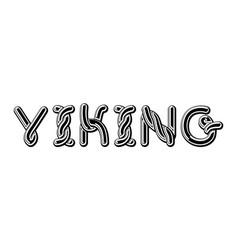 viking logo lettering celtic font norse medieval vector image