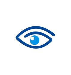 eye abstract vision logo vector image