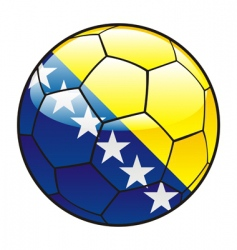 Bosnia and herzegovina flag on soccer ball vector