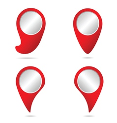Map pointer in red color vector